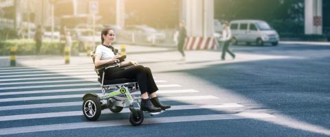 Elektriline kokkupandav ratastool